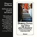Auf Treu und Glauben Audiobook by Donna Leon Narrated by Jochen Striebeck