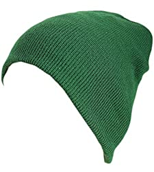 Artex Unisex Classic Stretchy Warm Winter Slouchy Beanie Hat (One Size, Forest Green)