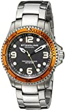Stuhrling Original Men's 593.332I11 Aquadiver Grand Regatta Swiss Quartz Diver Date Orange Bezel Watch