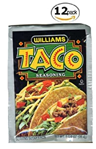 Williams Taco Seasoning - 12 Pack