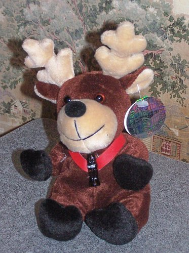 Coca-Cola Bean Bag Plush Baltic the Reindeer representing Sweden