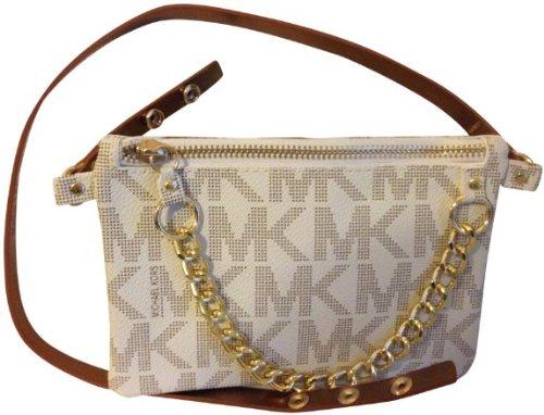 MICHAEL Michael KorsMichael Kors MK Signature Fanny Pack Belt Bag Vanilla XL
