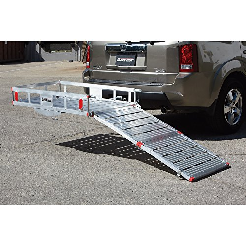 Hitch Cargo Carrier Ramp Receiver Mount Aluminum Truck Car