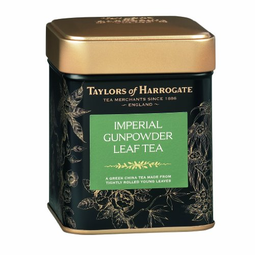 Taylors of Harrogate Imperial Gunpowder Leaf Tea, Loose Leaf, 4.41-Ounce Tins (Pack of 2)