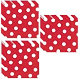 Red Polka Dot Luncheon Napkins - 48 Pieces