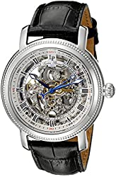 Lucien Piccard Men's LP-40036A-02S Paragon Stainless Steel Automatic Watch with Black Leather Band