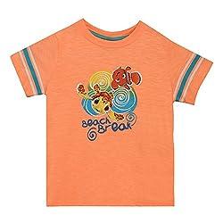 Disney Boys' T-Shirt (TC 2684_Orange_5 - 6 years)