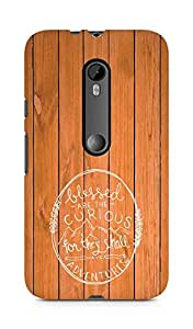 AMEZ Blessed are the curious Back Cover For Motorola Moto G3