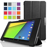 MoKo Google New Nexus 7 FHD 2nd Gen Case - Ultra Slim Lightweight Smart-shell Stand Case for Google Nexus 2 7.0 Inch 2013 Generation Android 4.3 Tablet, BLACK (With Smart Cover Auto Wake / Sleep Feature)