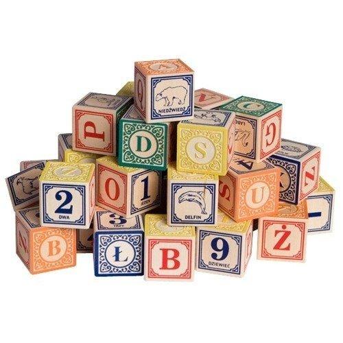 Imagen de Uncle Goose polacos Alphabet Blocks madera - Hecho en los EE.UU.