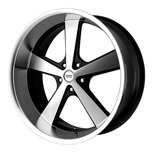 American Racing VN701 Nova Gloss Black Wheel with Machined Face and Spokes (22x9