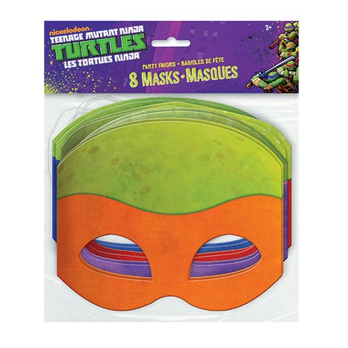 Teenage Mutant Ninja Turtles Masks, 8 Count