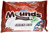 Mounds Snack Size Candy Bar, Dark Chocolate Coconut Filled, 11.3-Ounce Packages (Pack of 6)