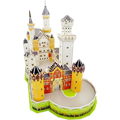 Mtele 3D Assembly Paper Puzzles of Neuschwanstein Castle New German Swan Castle (Castle Paper Model compare prices)