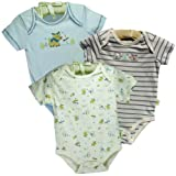 "Organic Cotton Boys ""Reindeer Friends"" 3 Piece Bodysuit Set"