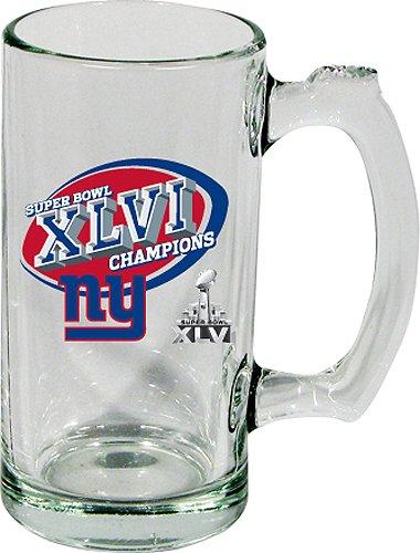 Nfl New York Giants 2011 Super Bowl Xlvi Champions 13 Ounce Glass Sport Mug, Plain