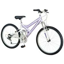 Pacific Girl's Chromium Full Suspension Bicycle 24Inch