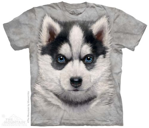 The Mountain Siberian Husky Puppy Adult Tee S front-685413