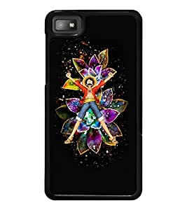 PrintDhaba Happy Boy D-3068 Back Case Cover for BLACKBERRY Z10 (Multi-Coloured)