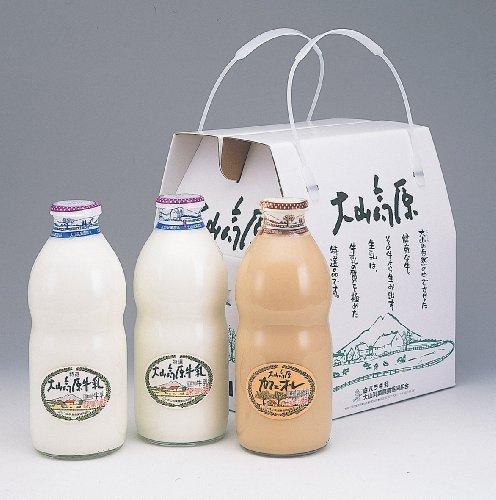 大山高原ギフトミルクAセット 大山高原牛乳 カフェオレセット (熨斗無)