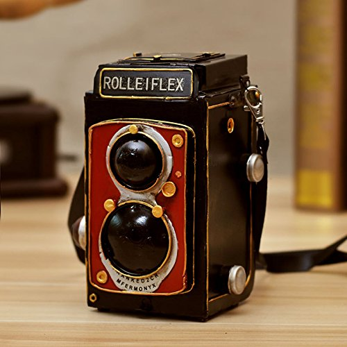 XXL American country vintage art vintage camera model is creative home decoration Bar Cafe decorations , red 0