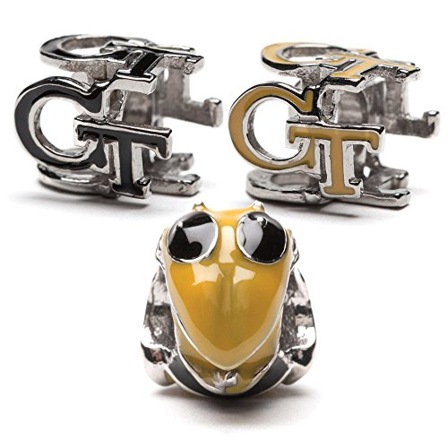 Georgia Tech GT Yellow Jackets Bead Charm Set of Three for Bracelet or Necklace - Fits Pandora