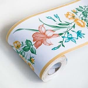 Gerbera - Self-Adhesive Wallpaper Borders Home Decor(Roll ...
