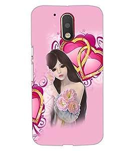 PrintDhaba Love Girl D-4131 Back Case Cover for MOTOROLA MOTO G4 (Multi-Coloured)
