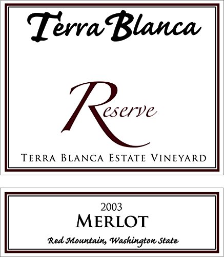 2003 Terra Blanca Reserve Red Mountain Merlot 750 Ml