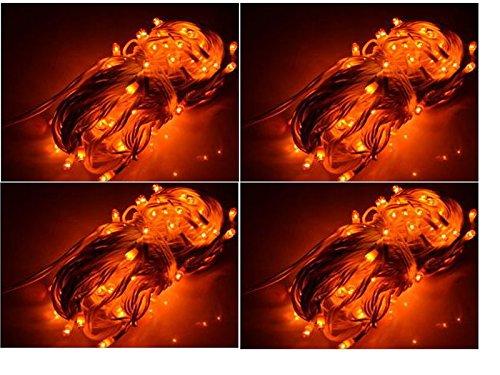ASCENSION Set Of 4 Rice Lights Serial Bulbs Decoration Lighting For Diwali Christmas (YELLOW)