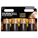 Duracell Plus Power Alkaline Batterien D 4er Pack