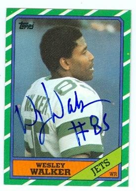 Wesley Walker autographed Football Card (New York Jets) 1986 Topps No.99