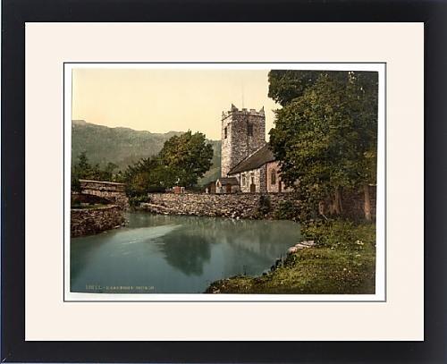 Framed Artwork of Grasmere Church, Lake District, England