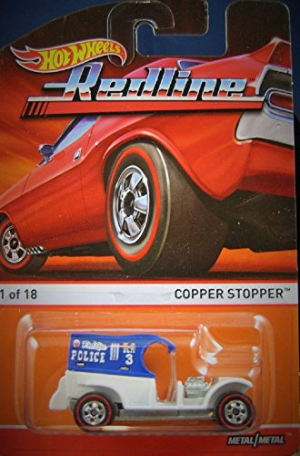 2015 Hot Wheels Redline Copper Stopper 1 of 18 Blue and White (Chopper Stopper compare prices)