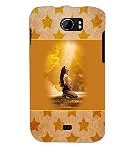 PrintDhaba Praying Girl D-3152 Back Case Cover for MICROMAX A110 CANVAS 2 (Multi-Coloured)