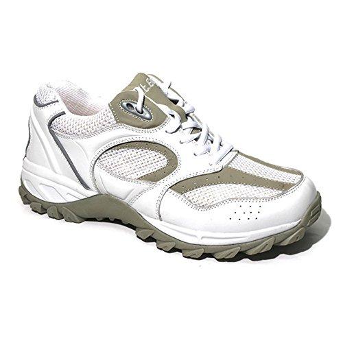 Apis Mt. Emey 9702 Men's Therapeutic Extra Depth Shoe: White/Beige 11.5 XXX-Wide(9E) Lace