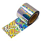 100 ft Holographic Bird Scare Ribbon, Double Side Laser Bird Scare Tape 2 Inch x 100 Feet