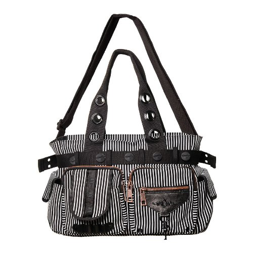Banned Handbag STEAMPUNK KEY black-white