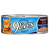 9Lives Hearty Cuts With Real Ocean Whitefish & Tuna In Gravy