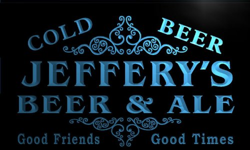 qs119-b Jeffery's Beer & Ale Vintage Design Bar Decor Neon Light Sign (Jeffery Beers compare prices)