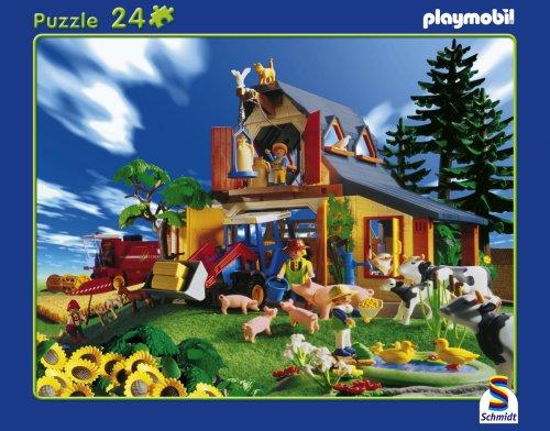 Schmidt – Playmobil, Bauernhof, 24 Teile Rahmenpuzzle günstig als Geschenk kaufen