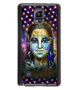 PrintVisa Metal Printed Lord Shiva Designer Back Case Cover for Samsung Galaxy Note 4 N910G -D4673