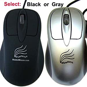 ValueRays® Heated Mouse, Warm Mouse, Warm Computer Mouse, Heated Computer Mouse,  Ergonomic Warm Mouse, Optical Heated Mouse, USB Hand Warmer Mouse, Assistive Technology, USB Optical Mouse, Computer Mouse, Infrared Heat
