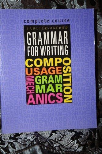 Sadlier oxford grammar for writing