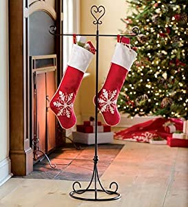 Com metal stocking hanger with heart finial christmas stockings