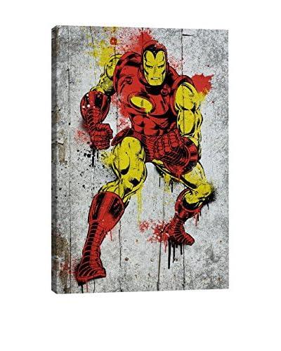 Marvel Comics Gallery Iron Man Spray Paint Canvas Print