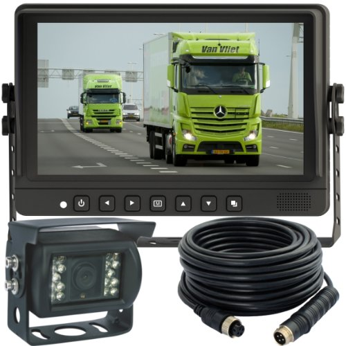9-Inch Hd Digital Single Picture Screen Tft Lcd Monitor Rear View Back Up Camera Video Camera Safety System For Truck Hvg/ Bus /Port Crane /Airport Vehicle/ Farm Tractor /Heavy Equipment/Municipal Vehicle