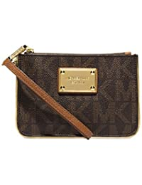 MICHAEL Michael Kors Small Specchio Jet Set Travel Wristlet In Signature Brown
