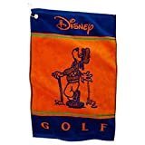 Authentic Disney Goofy Orange & Blue Golf Towel & Clip Hook