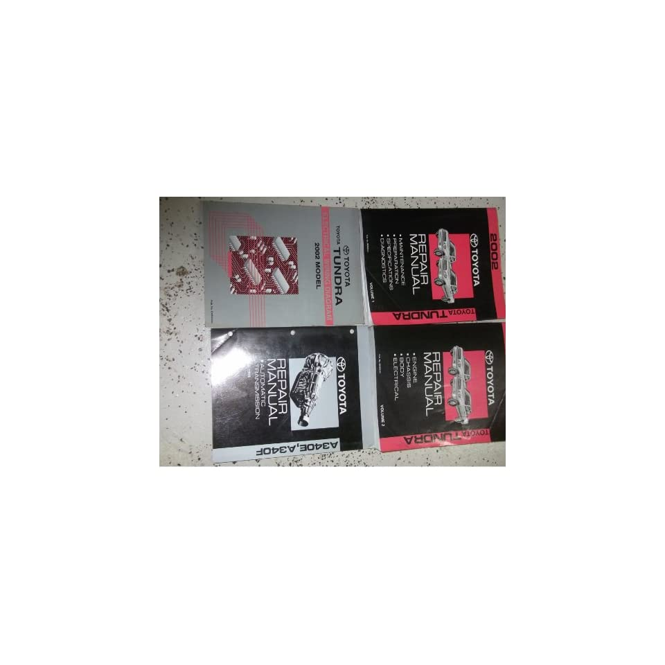 2002 Toyota Tundra Truck Service Shop Repair Manual Set